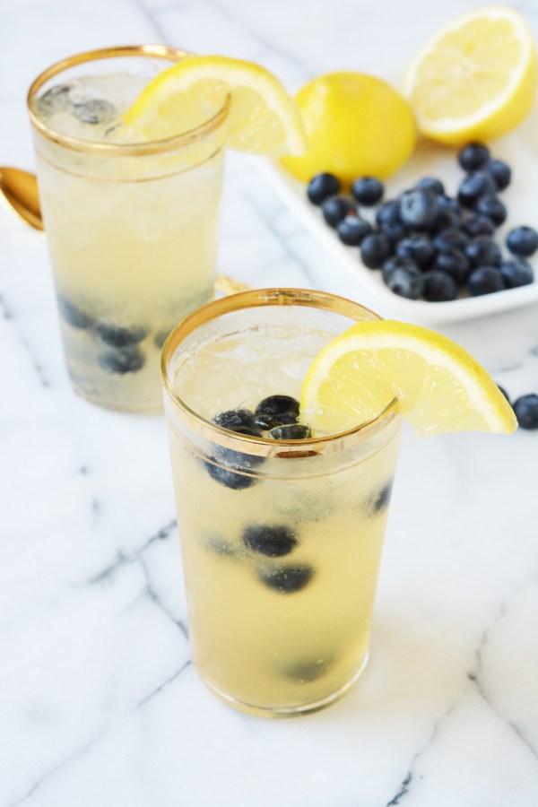 blueberry bourbon vanilla lemonade - mocktail recipe
