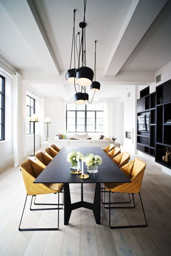 Yellow Gold Dining Chairs