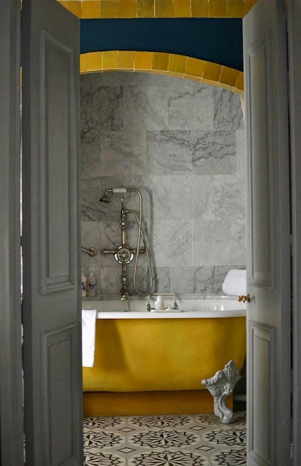 Gold Yellow Bathtub