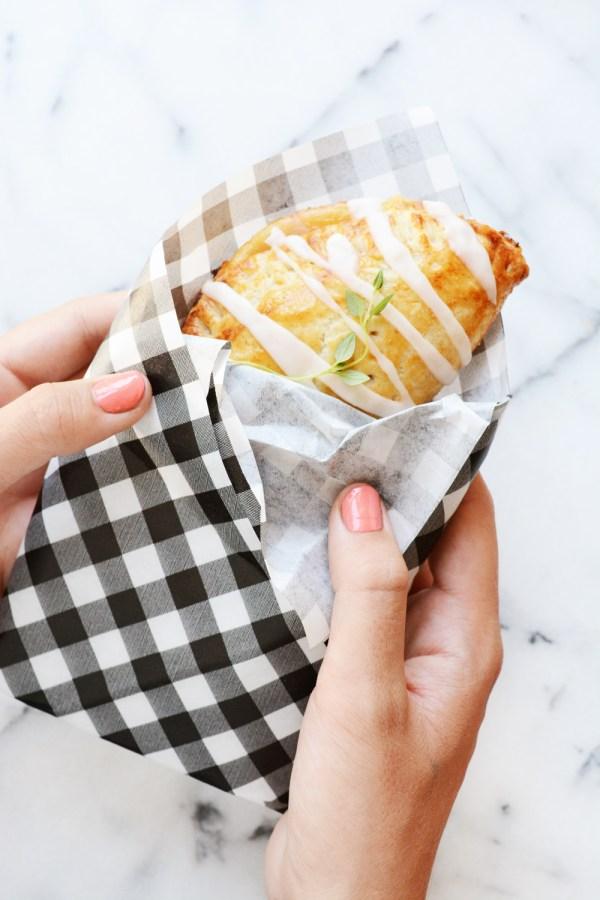 Peach thyme hand pies. The perfect handheld Summer dessert.