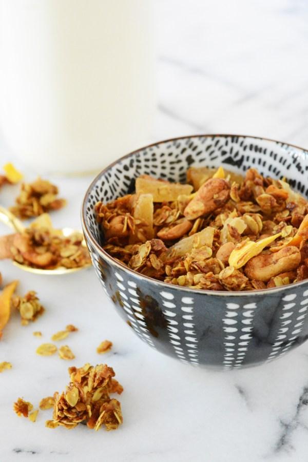 curry coconut cashew granola