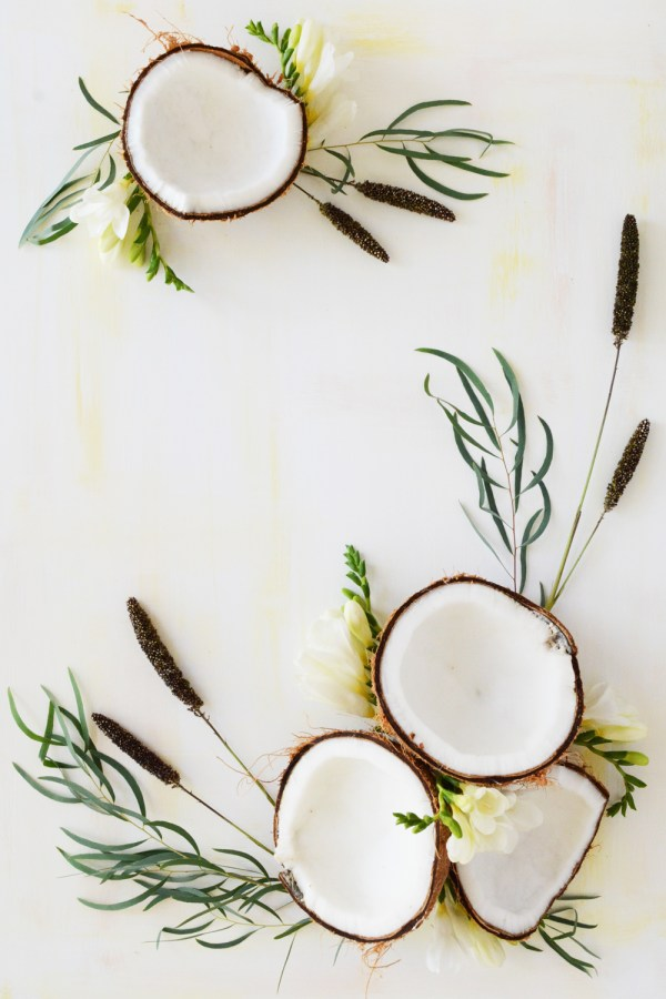 Fresh fruit art, white
