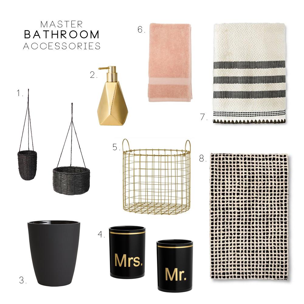 Master Bathroom Accessories - Oleander + Palm