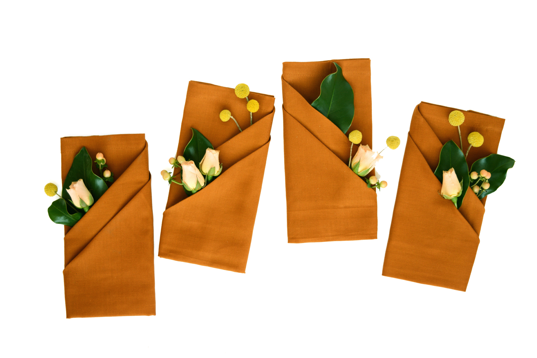 Fall Napkin Folding With Fresh Flowers Oleander Palm