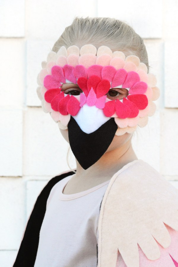 DIY Flamingo Halloween Costume