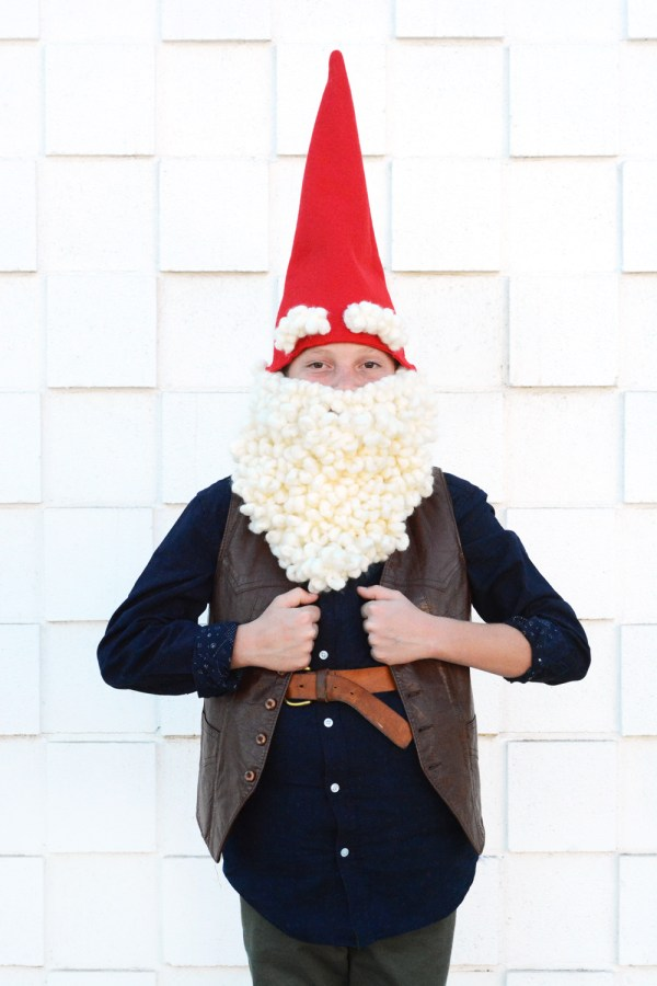 DIY Garden Gnome Halloween Costume