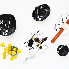 DIY Splatter Painted Pinch Pots