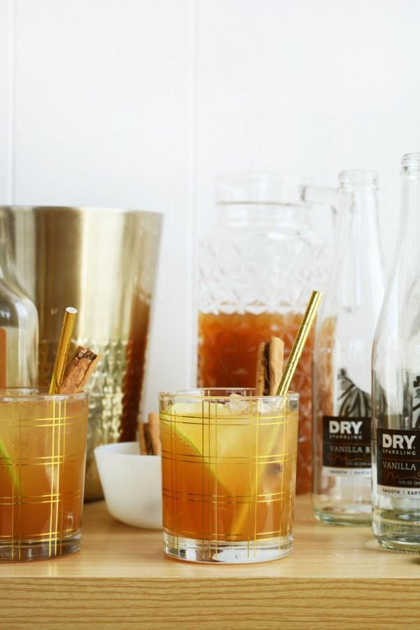 Sparkling Vanilla Cider Mocktail