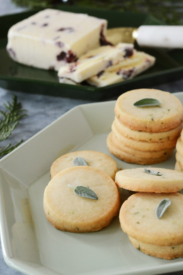 Savory Sage Shortbread Cookies