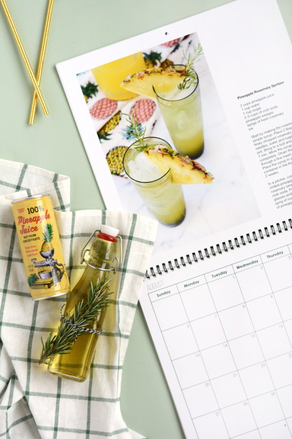 Mocktail Recipe Calendar made the Mixbook
