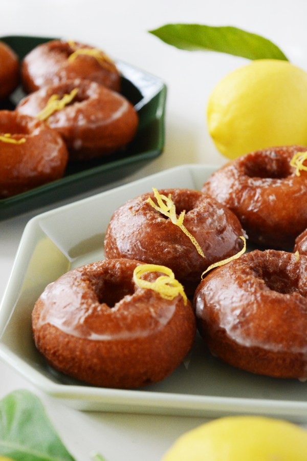Lemon Old Fashioned Homemade Donuts