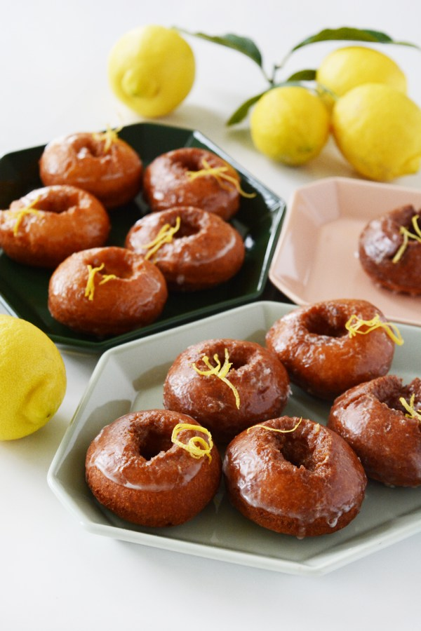 Lemon Old Fashioned Donuts