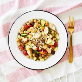 Lemon Chicken Garbanzo Bean Salad