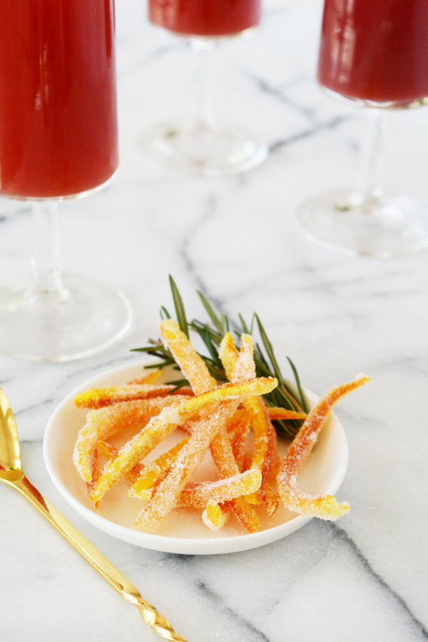 Orange Cranberry Rosemary Mock-Mimosa