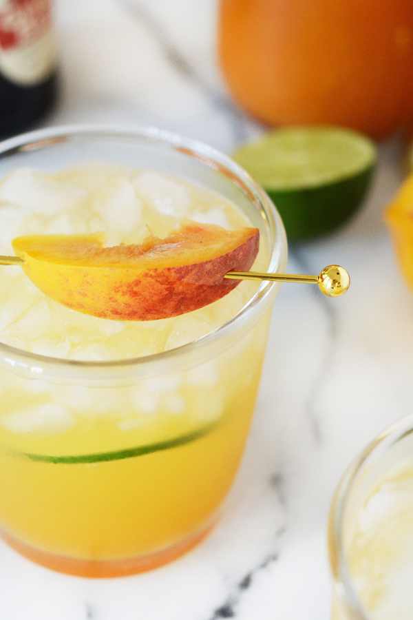 Peach Ginger Moscow Mule Mocktail