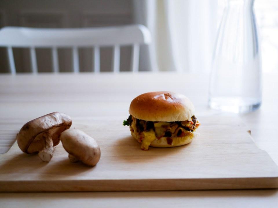 Burger veggie aux champignons shiitake