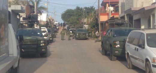 Fuerte operativo militar en el sector norte de la ciudad