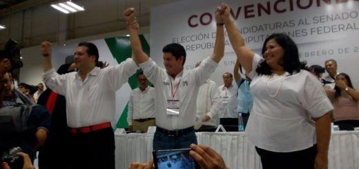 Rosa Elena Millán y Mario Zamora, candidatos oficiales del PRI a la Senaduría de la República
