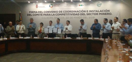 Firman convenio a favor de las empresas mineras