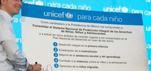 Anaya firma compromisos a favor de la Infancia