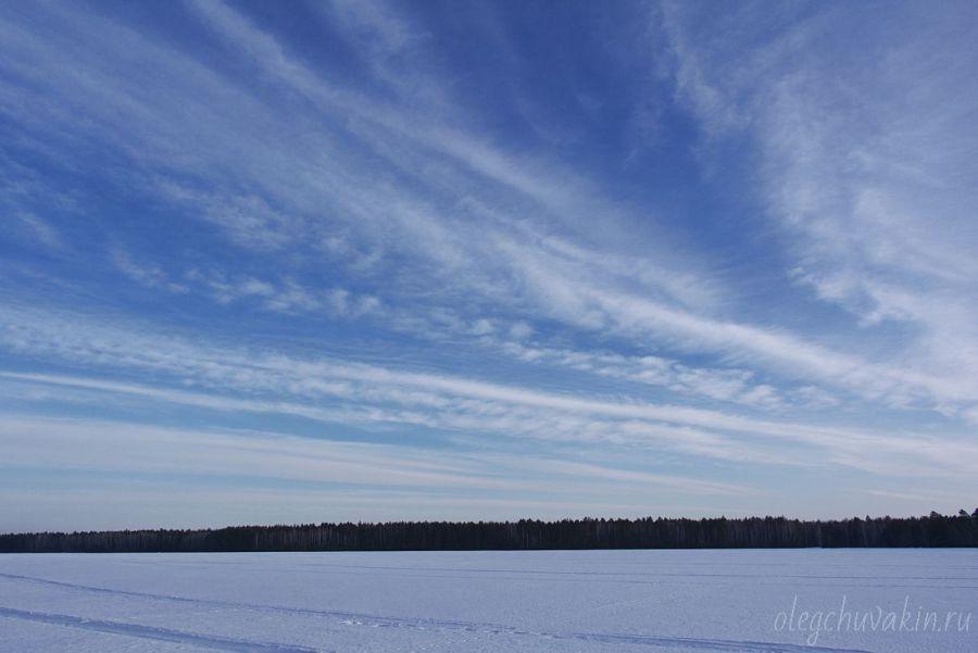 На закате, март, небо, фото