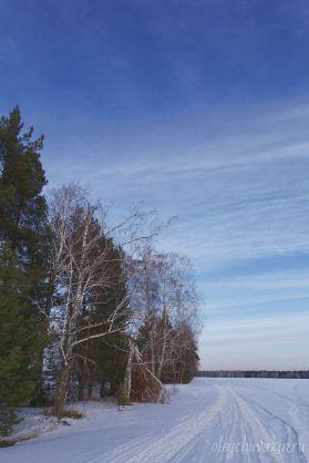 Фото, перед закатом, март, снег