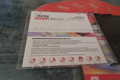 Гарантии от Mirex, компания Mirex гарантирует, двухслойные диски
