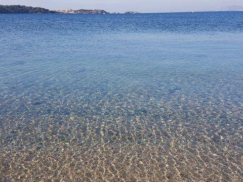 Море, Франция, прозрачная вода, фото, декабрь