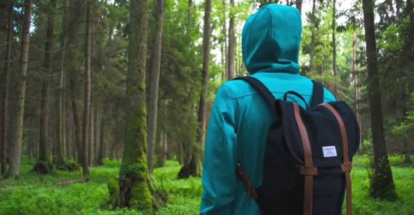 Человек, лес, Россия, фото, иллюстрация к рассказу