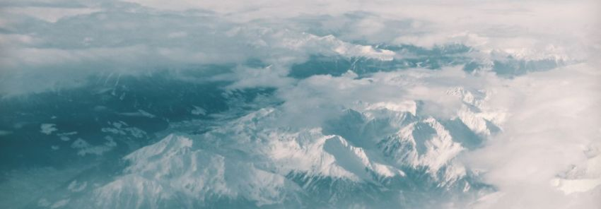 Горы, небо, облака, снежные вершины, фото
