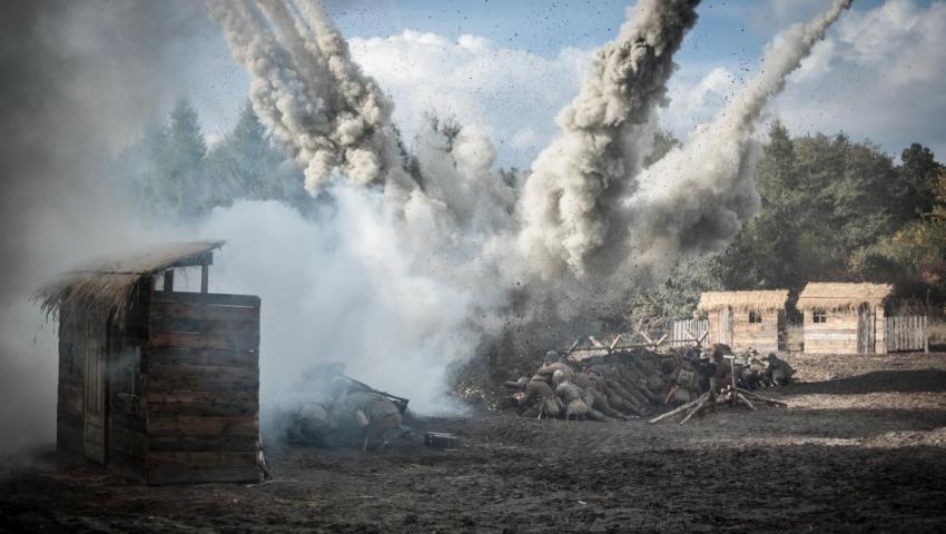 Война, бомбёжка, солдаты, фото
