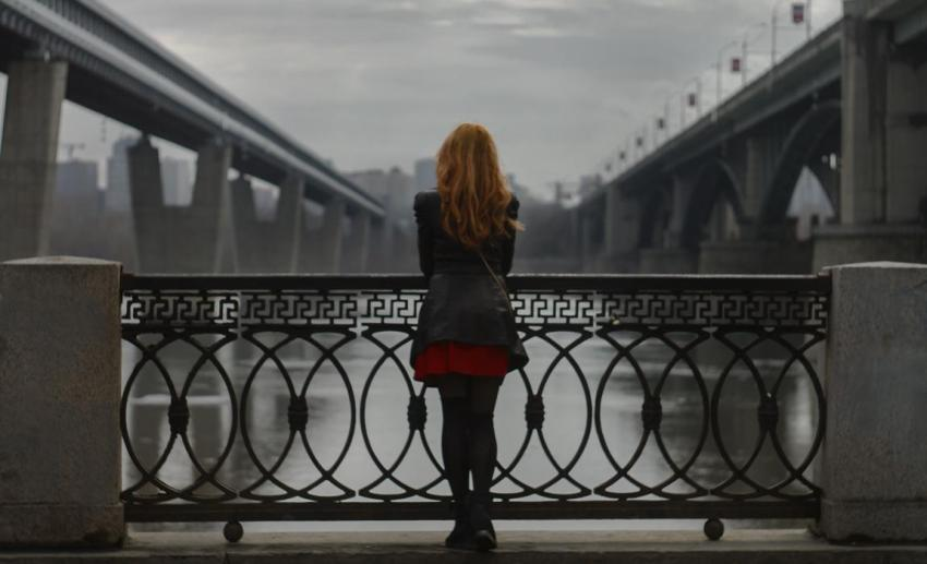 Девушка, рыжие волосы, стройная