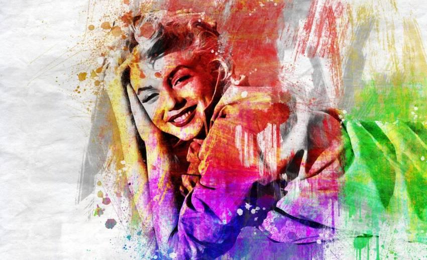 Мэрилин Монро, актриса, портрет, граффити
