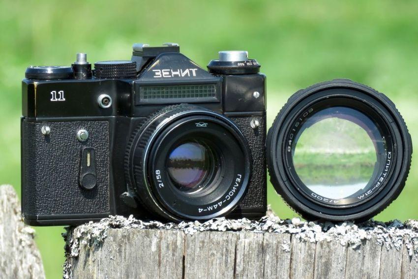 Фотоаппарат, Зенит-11, объектив Гелиос, Юпитер, фото