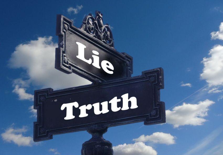 Правда, ложь, указатель, небо