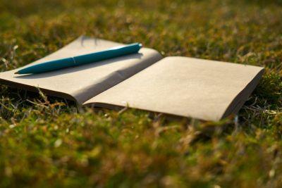 Тетрадь, чистая, ручка, писатель, написать книгу
