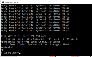 Packet loss test Unlimited