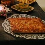 Empanada moruna en la cena de Noche Vieja 2016. De postre roscos de vino y anís