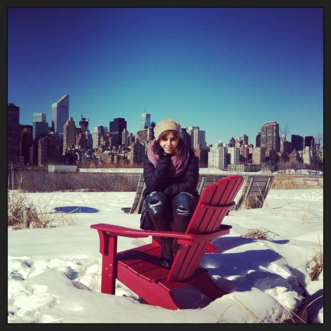 Nueva york, skyline de Manhattan desde Long Island City