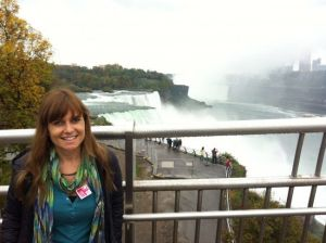 Con Uniqlo en las Cataratas del Niagara