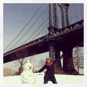 Con Uniqlo en pleno invierno en Nueva York