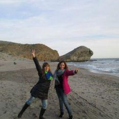 Con Uniqlo en invierno en Almería