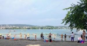 Baño Mythenquai, Zurich para niños en verano