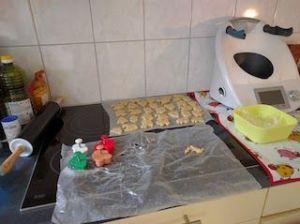 Preparando galletas navideñas