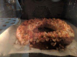 Roscón de Reyes en el horno