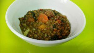 Potaje de lentejas con verduras