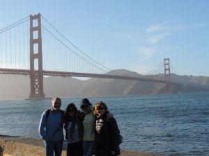 Con mi familia cuando vinieron a visitarme a San Francisco en Marzo de 2015