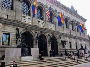 Biblioteca pública de Boston en junio