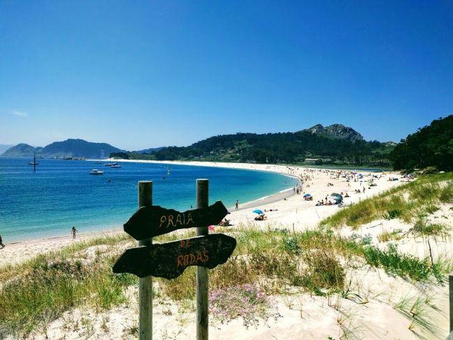 Galicia, playa de Rodas