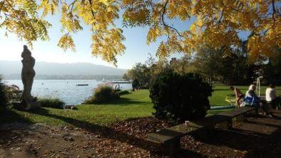 Otoño en el lago de Zurich